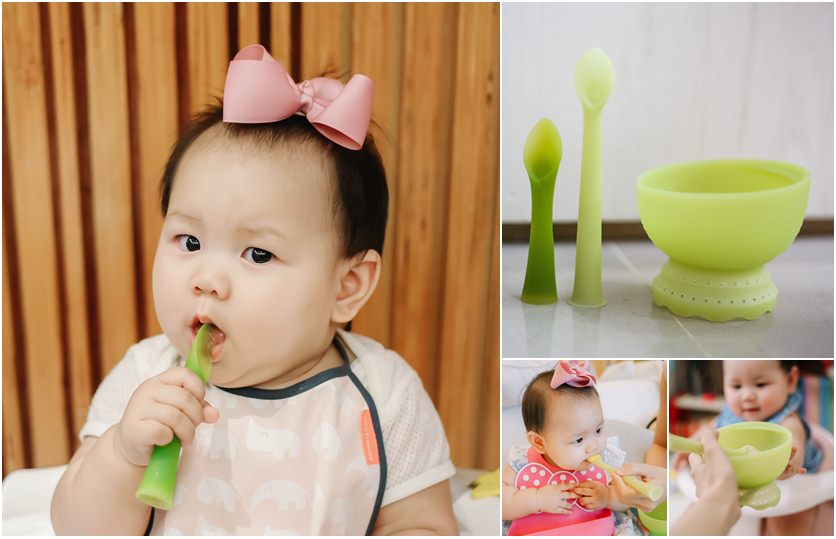 【育兒】Olababy矽膠餐具,是餵寶寶吃食副食品+自主餵食最好的朋友(影片)