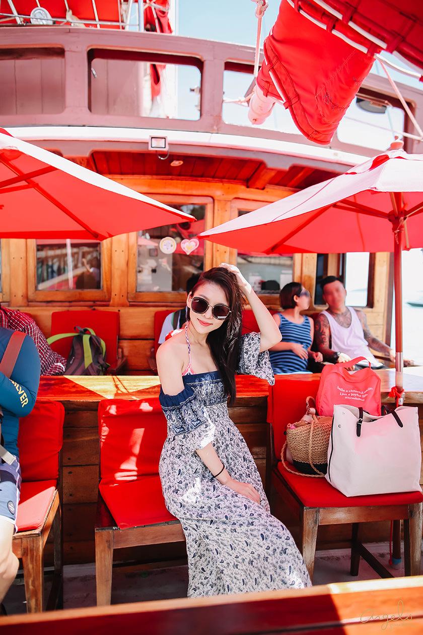 【蘇美島】海上最拉風的那艘紅帆船~伴著美景美酒出航囉!