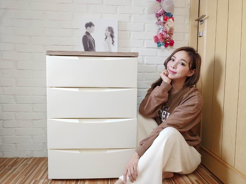 【居家】非常美的IRIS OHYAMA木質天板收納櫃~拯救我們爆炸的房間!