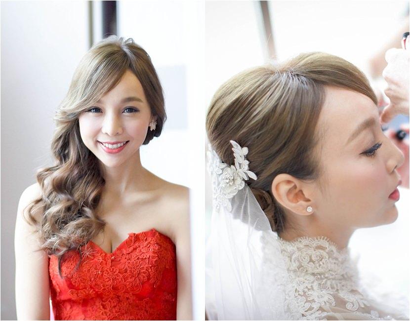 ▌My Wedding ▌訂結儀式♥兩套婚紗造型分享by Sandy Chen♥
