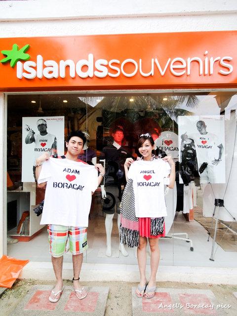 ☀自助長灘島Boracay☀島上購物【Islands Souvenirs】來訂做一件屬於自己的T恤吧!